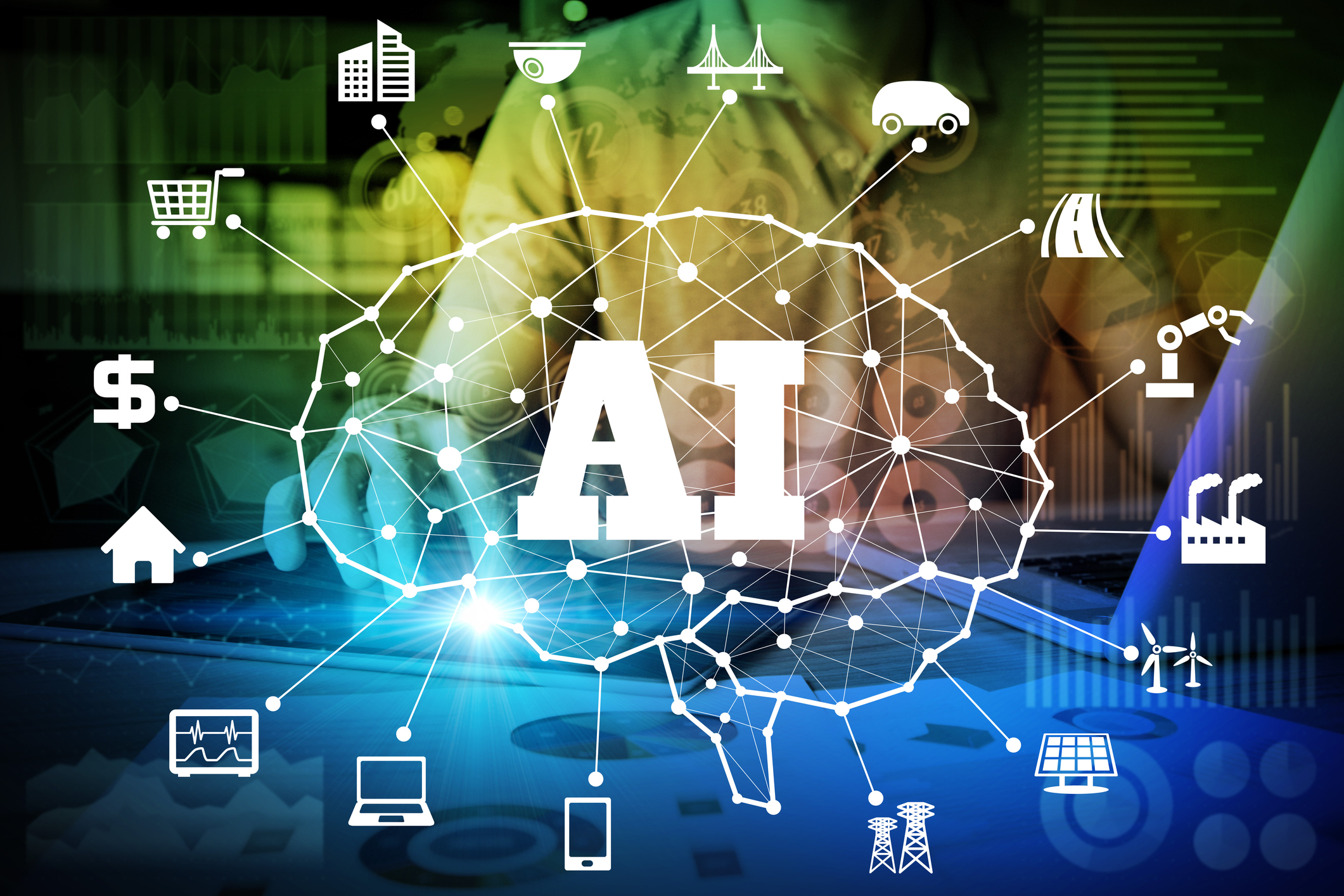 AI(Artificial Intelligence) concept. deep learning representing AI is Impacting Home Builders