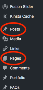 posts and page example